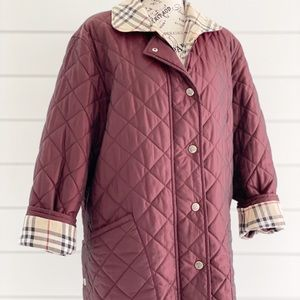 Burberry Nova Check Detail Diamond Quilted Jacket
